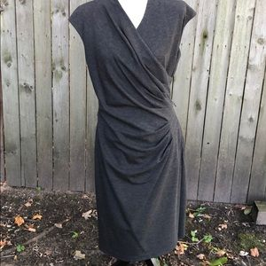 Lauren Ralph Lauren Knit Charcoal Dress Size 10